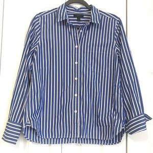 J. Crew Button down long sleeve top 100% cotton